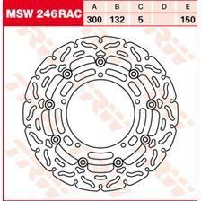 TRW MSW zwevende remschijf RAC design MSW246RAC