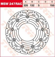 TRW MSW disque de frein flottant RAC design MSW247RAC