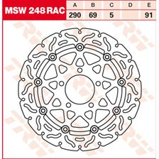 TRW MSW zwevende remschijf RAC design MSW248RAC