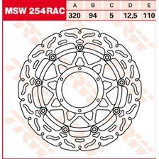 TRW MSW zwevende remschijf RAC design MSW254RAC