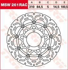 TRW Disque de frein MSW261RAC