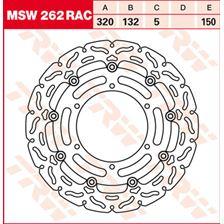 TRW MSW zwevende remschijf RAC design MSW262RAC