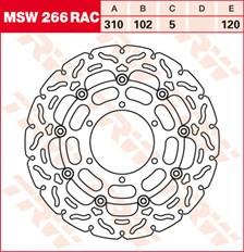 TRW Remschijf MSW266RAC