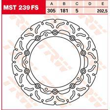 TRW FS disque de frein flottant MST239FS