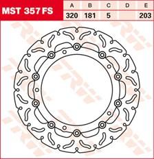 TRW FS zwevende remschijf MST357FS