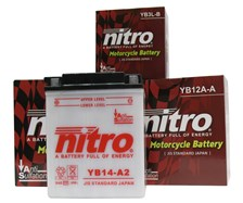 NITRO Batterie conventionnelle anti sulfation YB12A-B
