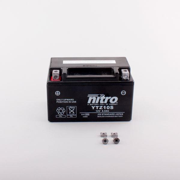 NITRO Gesloten batterij onderhoudsvrij YTZ10S