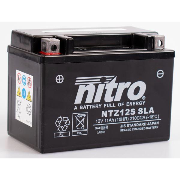NITRO Gesloten batterij onderhoudsvrij YTZ12S