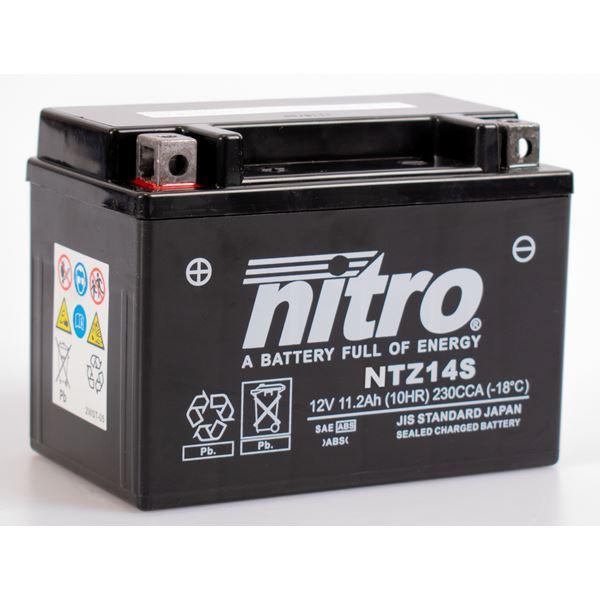 NITRO Gesloten batterij onderhoudsvrij YTZ14S