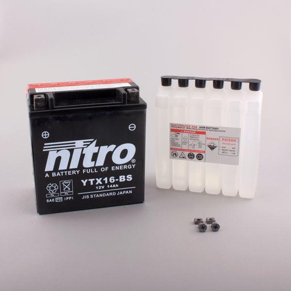 NITRO Batterie sans entretien YTX16-BS