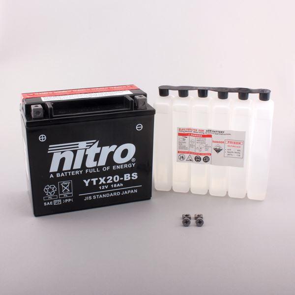 NITRO Batterie sans entretien YTX20-BS
