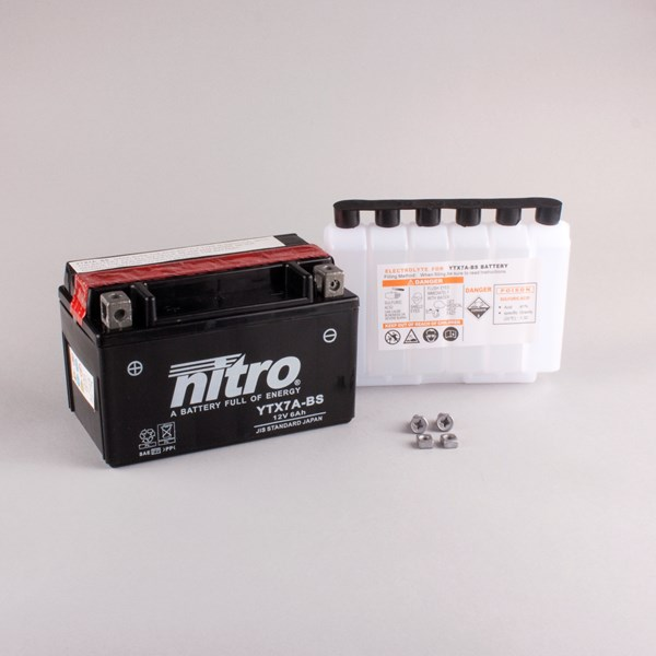 NITRO Onderhoudsvrije batterij YTX7A-BS
