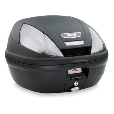 GIVI E370 top case relfecteurs fumés, cache noir