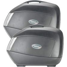 GIVI V35 zijkoffers fumé reflectoren, zwarte cover