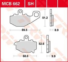 TRW Plaquettes de frein organique MCB662