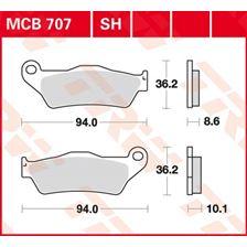 TRW Standaard remblokken MCB707