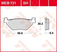 TRW Plaquettes de frein organique MCB731