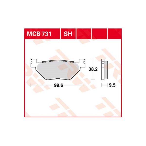 TRW Standaard remblokken MCB731