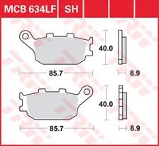 TRW Plaquettes de frein organique MCB634