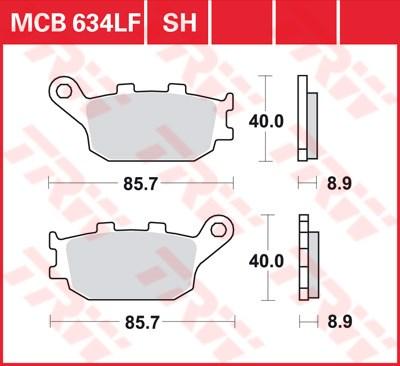 TRW Standaard remblokken MCB634