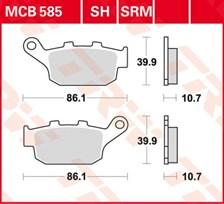 TRW Plaquettes de frein organique MCB585