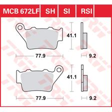TRW Standaard remblokken MCB672