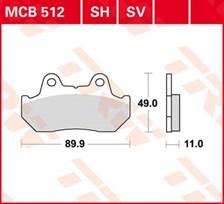 TRW Plaquettes de frein SV/SH MCB512SH