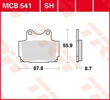 TRW Plaquettes de frein SV/SH MCB541SH