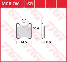 TRW Plaquettes de frein SV/SH MCB706SV