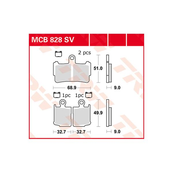 TRW SV/SH Remblokken MCB828SV