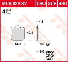 TRW Plaquettes de frein SV/SH MCB829SV