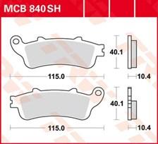 TRW Plaquettes de frein SV/SH MCB840SH