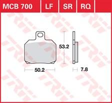 TRW Plaquettes de frein SV/SH MCB700SH