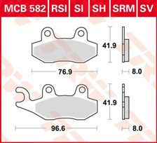 TRW Plaquettes de frein SV/SH MCB582SH