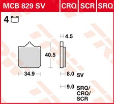 TRW Plaquettes de frein SRQ  MCB829SRQ