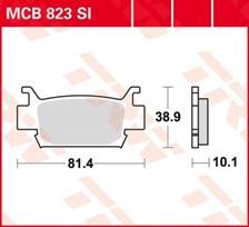 TRW Plaquettes de frein métal fritté SI MCB823SI