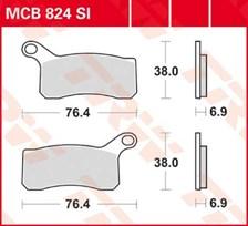 TRW Plaquettes de frein métal fritté SI MCB824SI