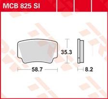 TRW Plaquettes de frein métal fritté SI MCB825SI