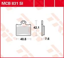 TRW Plaquettes de frein métal fritté SI MCB831SI