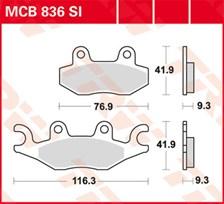 TRW Plaquettes de frein métal fritté SI MCB836SI