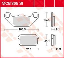 TRW Plaquettes de frein métal fritté SI MCB805SI