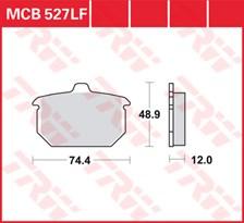 TRW Plaquettes de frein organique MCB527
