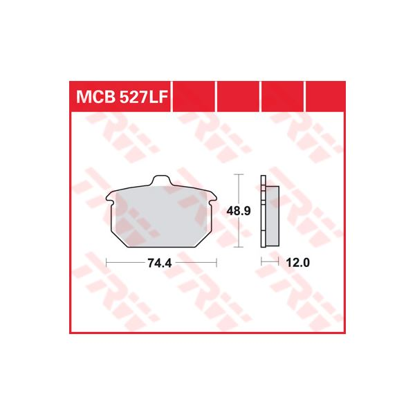 TRW Standaard remblokken MCB527