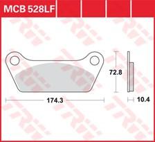 TRW Plaquettes de frein organique MCB528