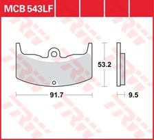 TRW Plaquettes de frein organique MCB543