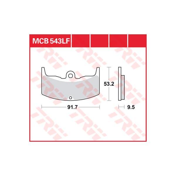 TRW Standaard remblokken MCB543