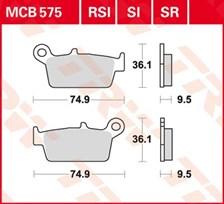 TRW Plaquettes de frein organique MCB575