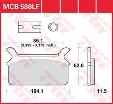 TRW Plaquettes de frein organique MCB580