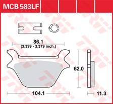 TRW Plaquettes de frein organique MCB583