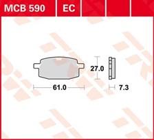 TRW Plaquettes de frein organique EC MCB590EC